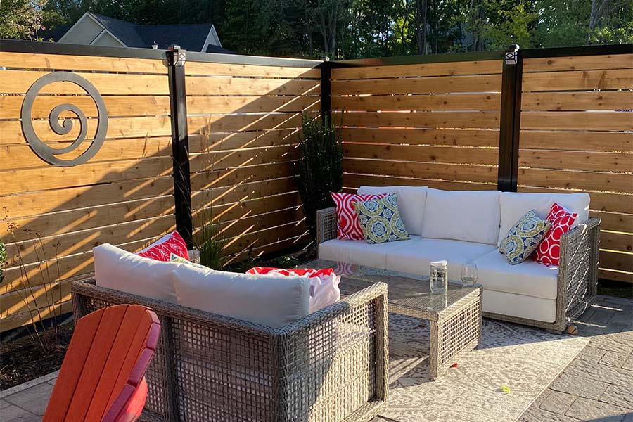 Patio Privacy Fence With Slats Privacy Screen
