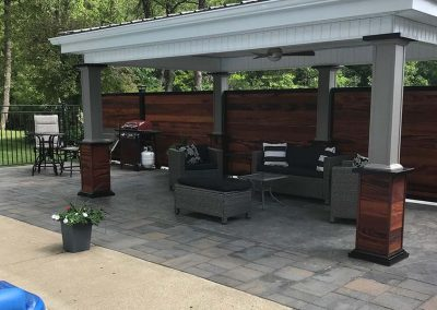 Pavilion Patio Privacy Fence Wood & Metal