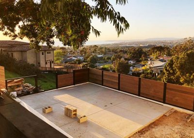 Hilltop Patio Privacy Fence