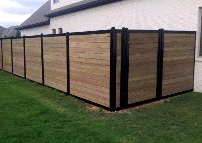 Horizontal Wood & Metal Fence