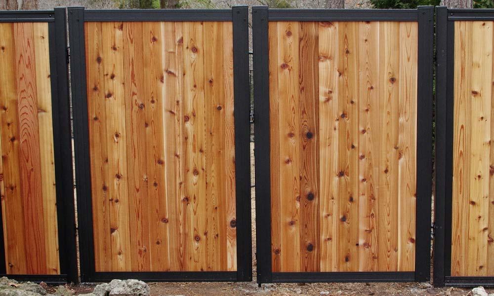 Black Metal & Wood Gate