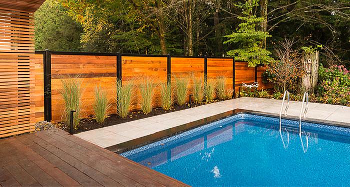 Pool Privacy Fence Wood & Metal