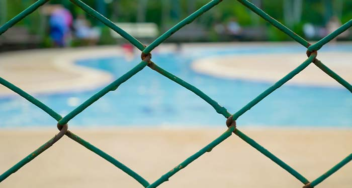 Chain Link Fence Around Pool