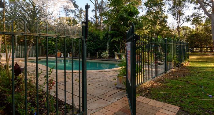 Metal Fence Around Pool