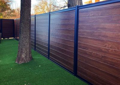 Horizontal PVC Wood Look Privacy Fence