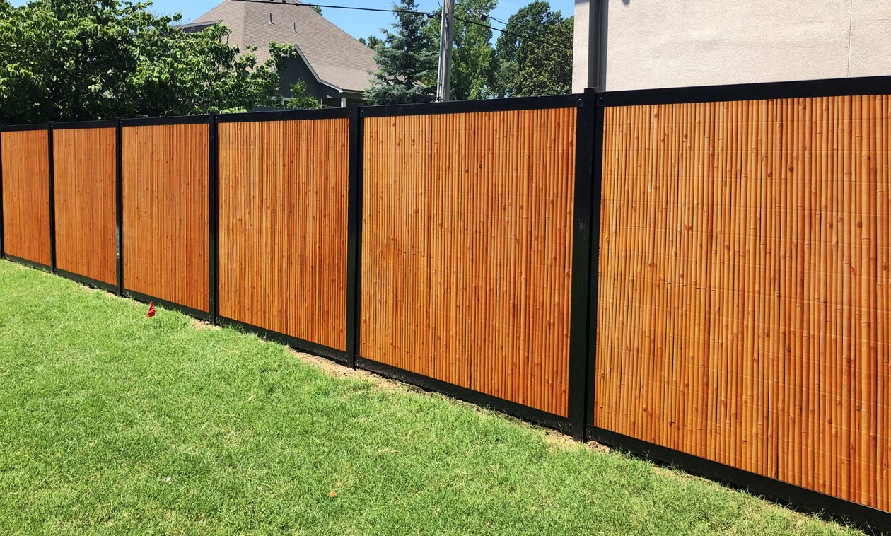 Bamboo & Metal Privacy Fence