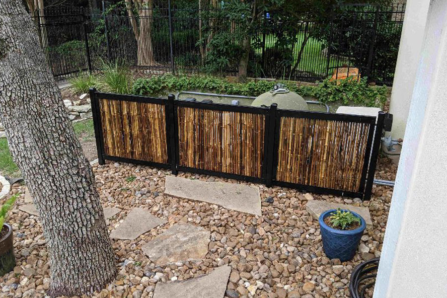 Bamboo Fence For Pool Equipment
